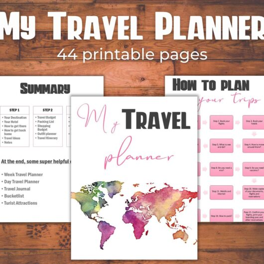 Travel Planner Printable PDF