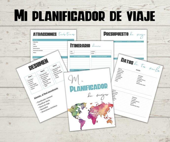planificador de viajes para imprimir